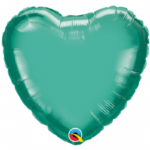 "Green Chrome Foil Balloon (18"" Heart) 1pc"